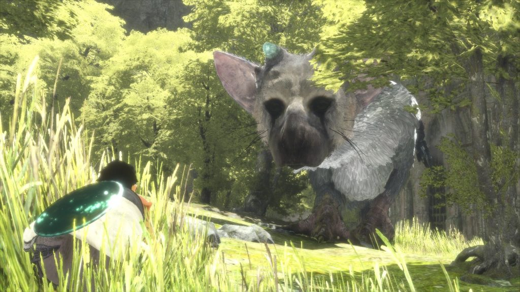 The Last Guardian Trico in trees