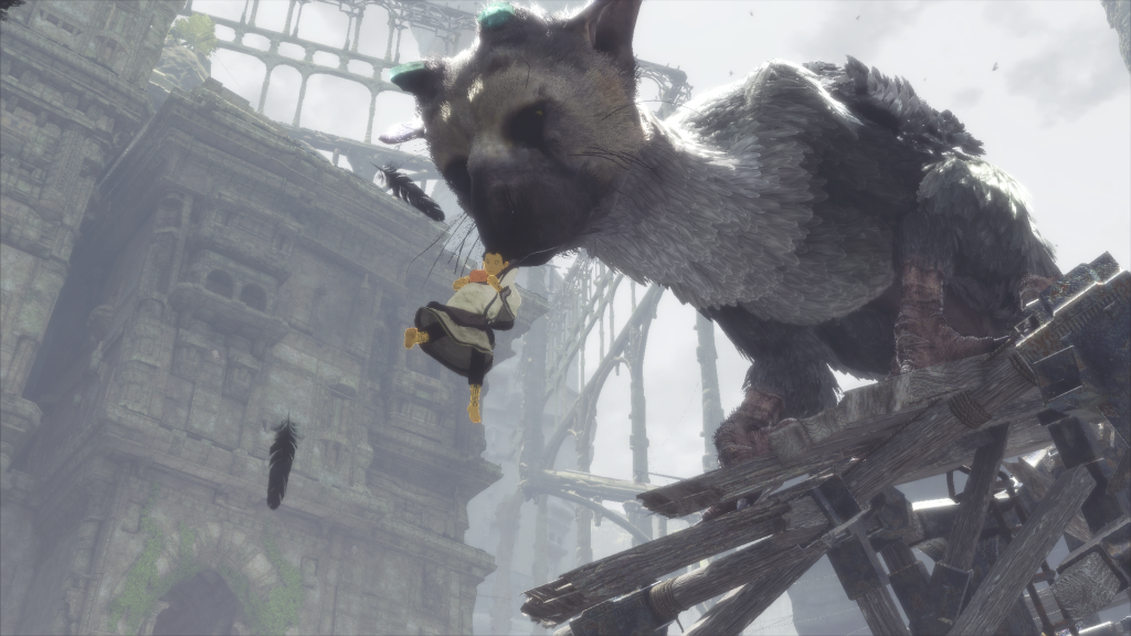 The Last Guardian Trico saves boy