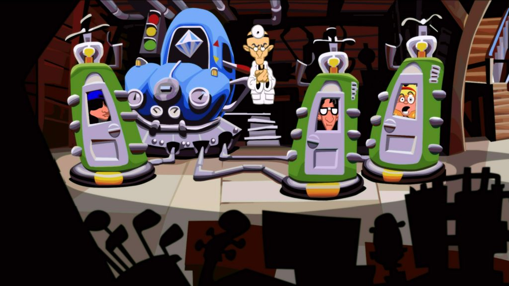 Day of the Tentacle Remastered Chronojohn time machines