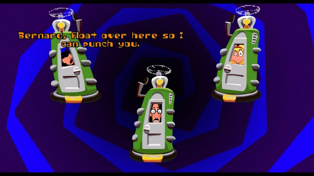 Day of the Tentacle Remastered time warp