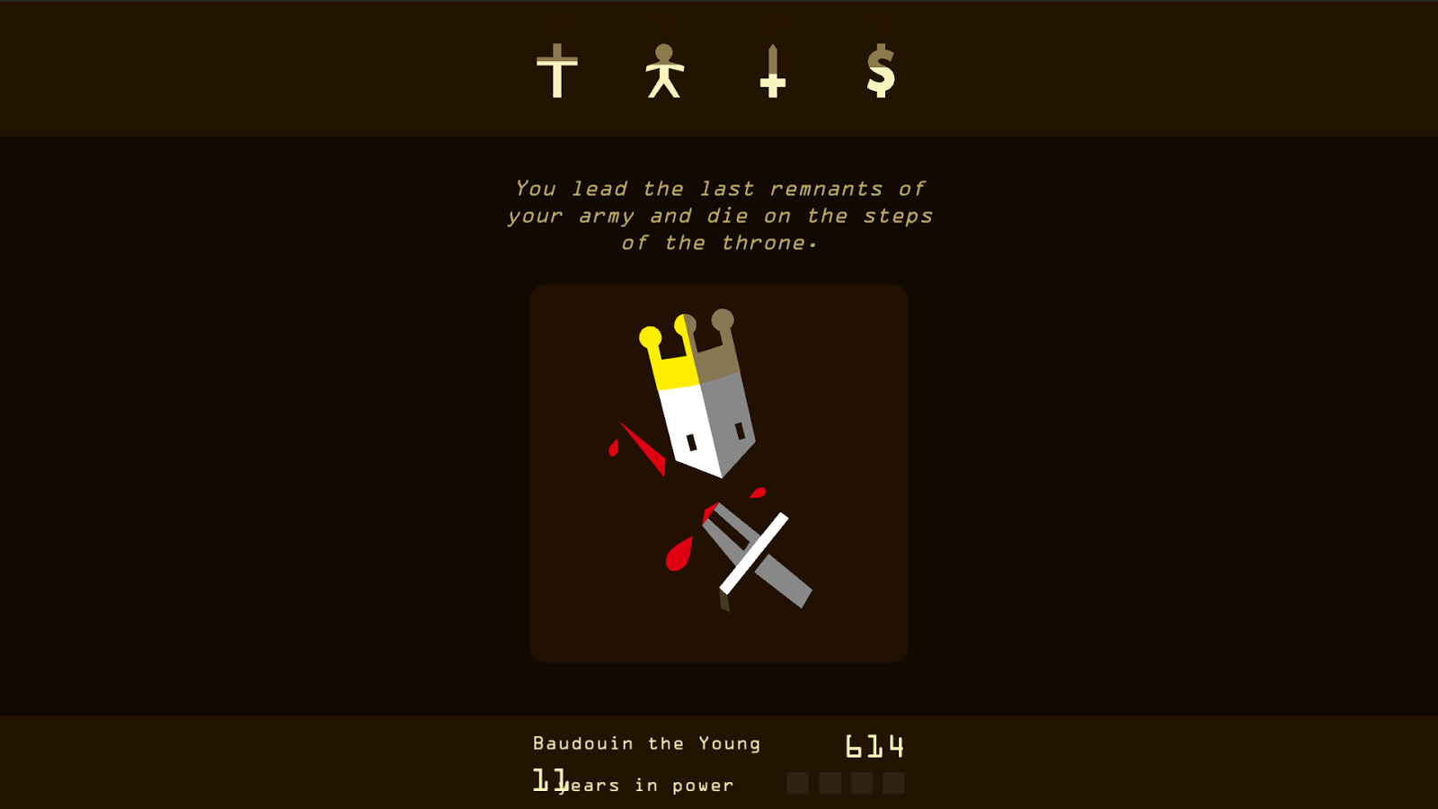 Reigns Death Screen