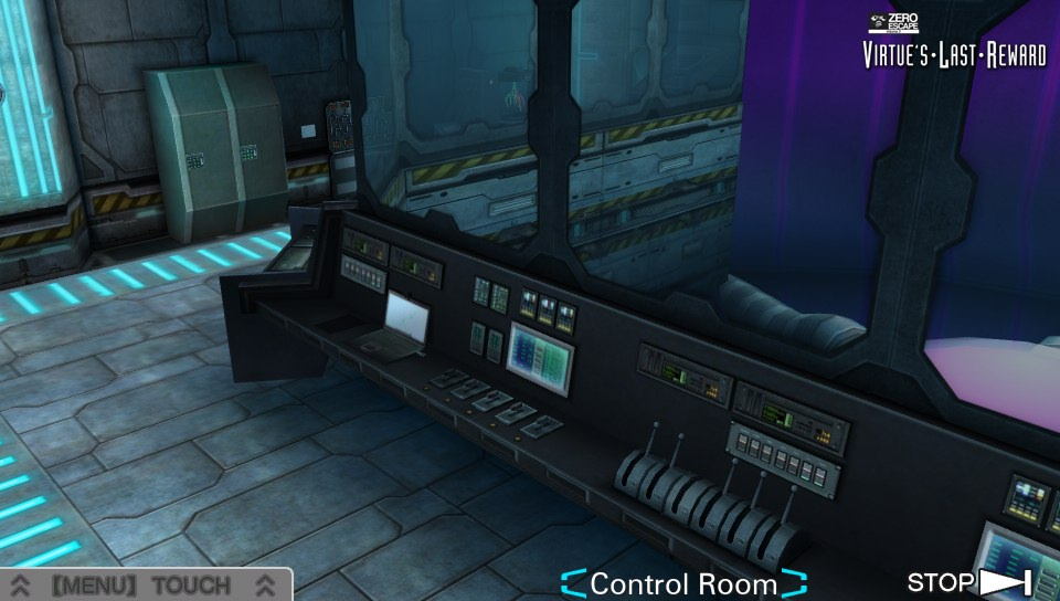 Virtue's Last Reward Control Room