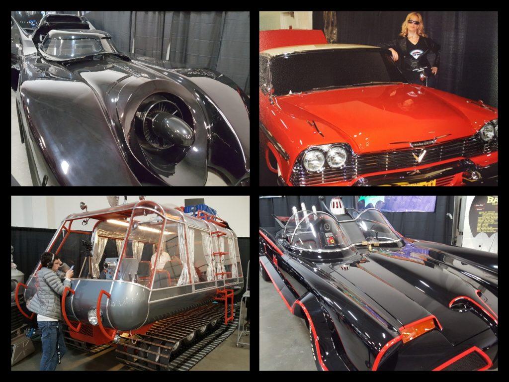 East Coast Comic Con, Cars, Batmobile, Christine, Lost In Space Chariot