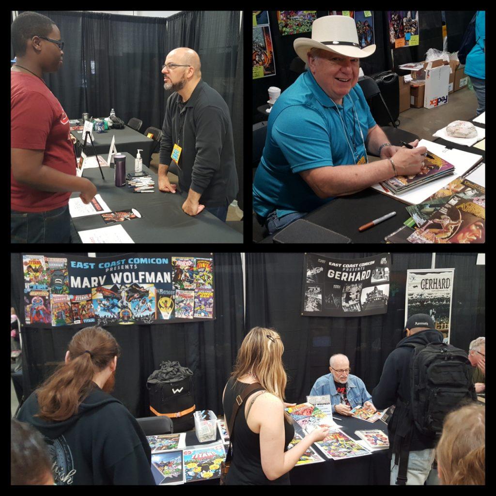 East Coast Comic Con, Comic Creators Fabian Nicieza, Mike Grell, Marv Wolfman
