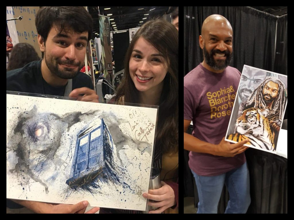 Awesome Con, Artwork, JaCo Tartaruga, AJ Moore, Catherine Tate, Khary Payton, Doctor Who, The Walking Dead
