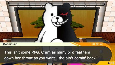 Danganronpa Monokuma joke RPG
