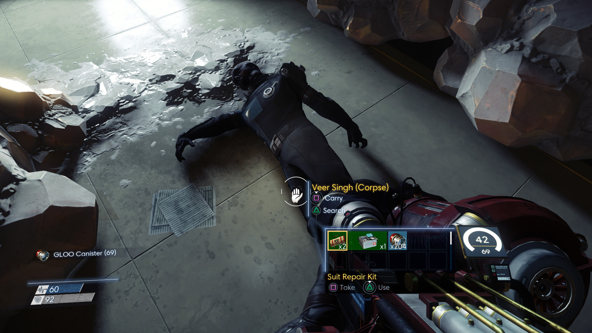 Prey looting corpse