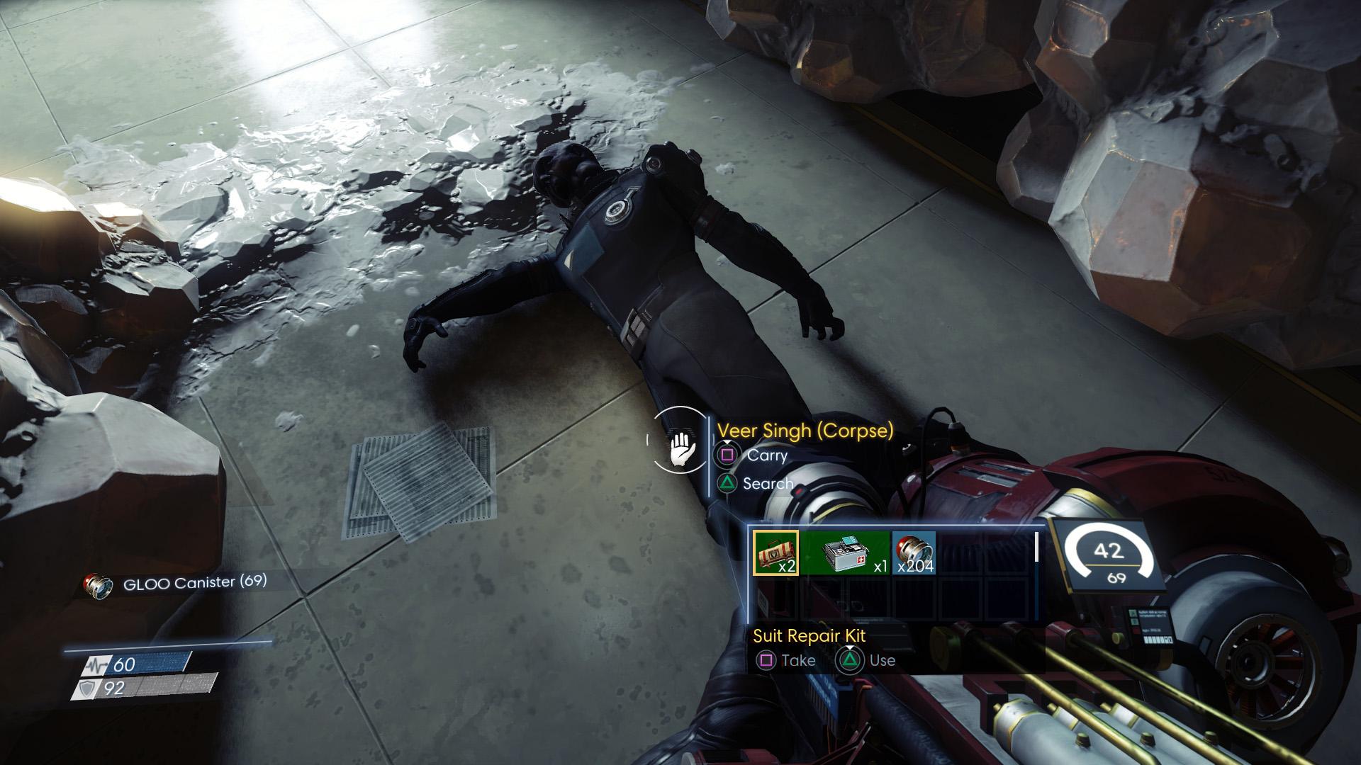 Prey looting corpse