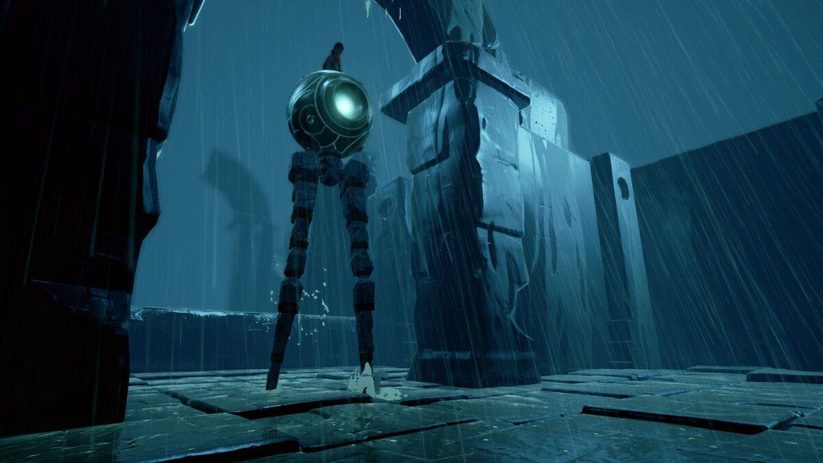 Rime robot in the rain