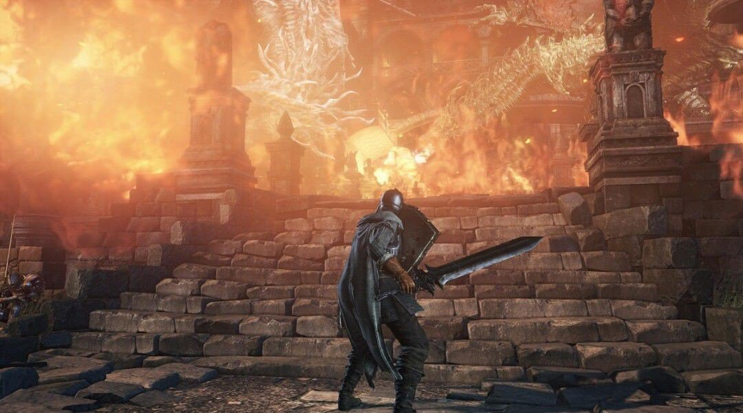 Dark Souls 3 Dragon bridge Lothric Castle