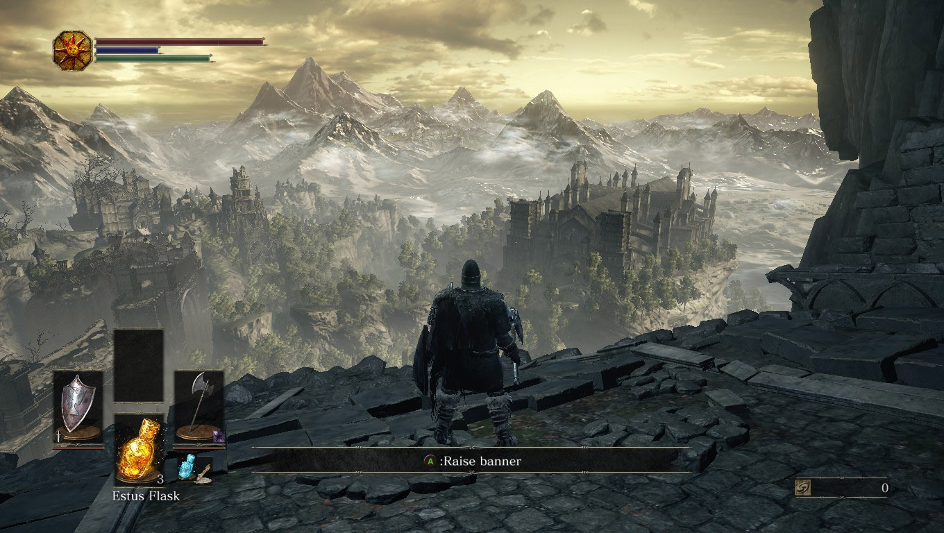 Dark Souls 3 Lothric view vista from High Wall