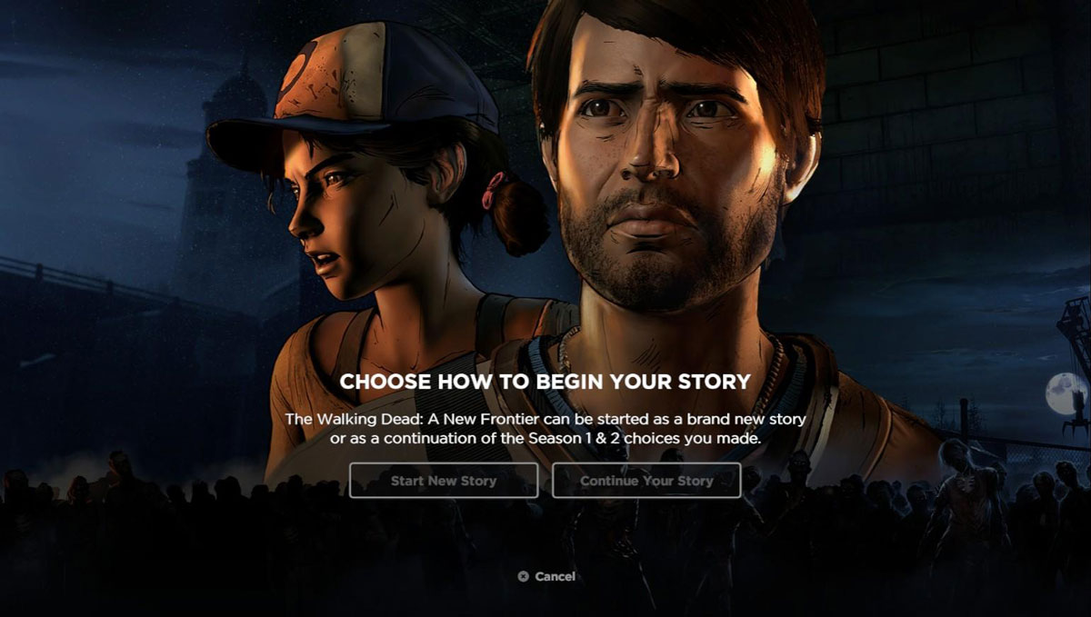 Walking Dead A New Frontier Javier and Clementine previous import