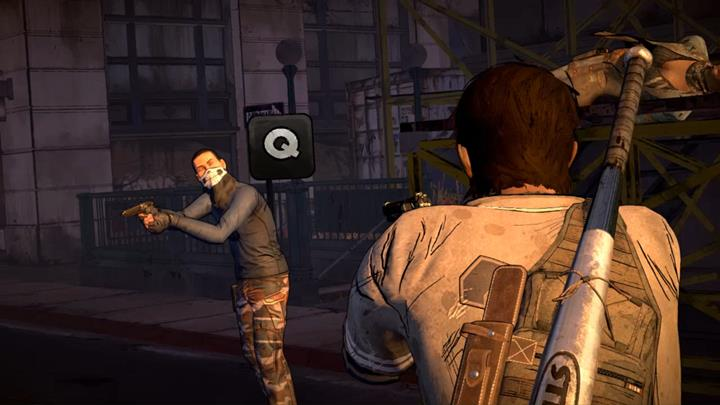 Walking Dead A New Frontier Combat Quick Time Event gunfight