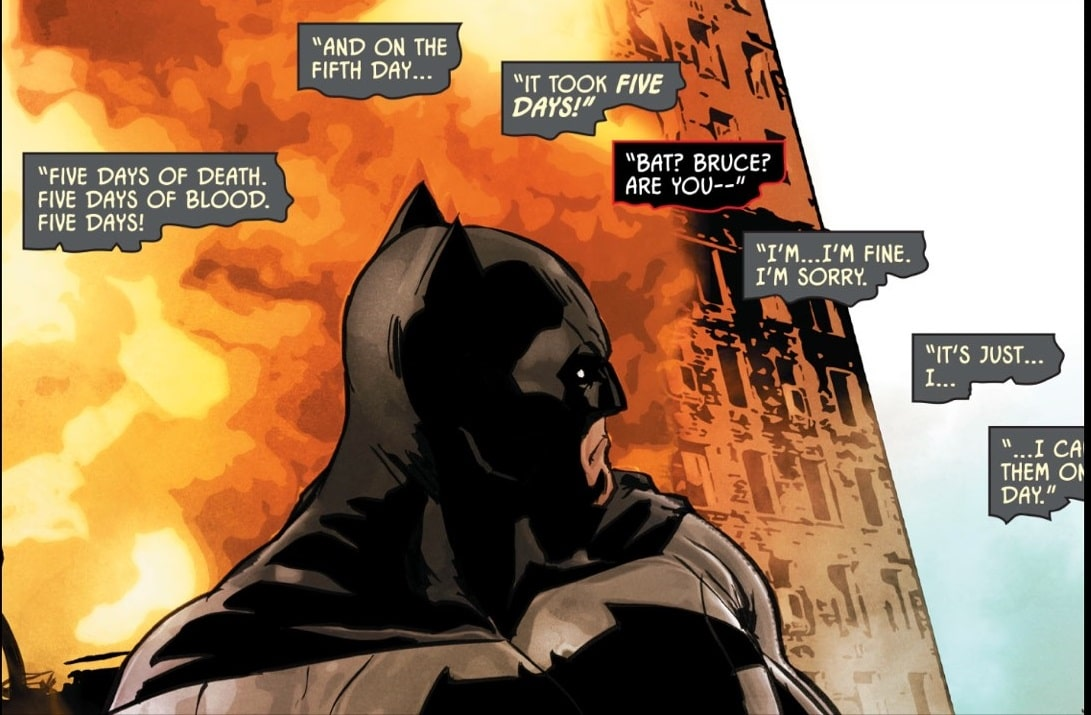 Batman losing control. Courtesy of DC Comics