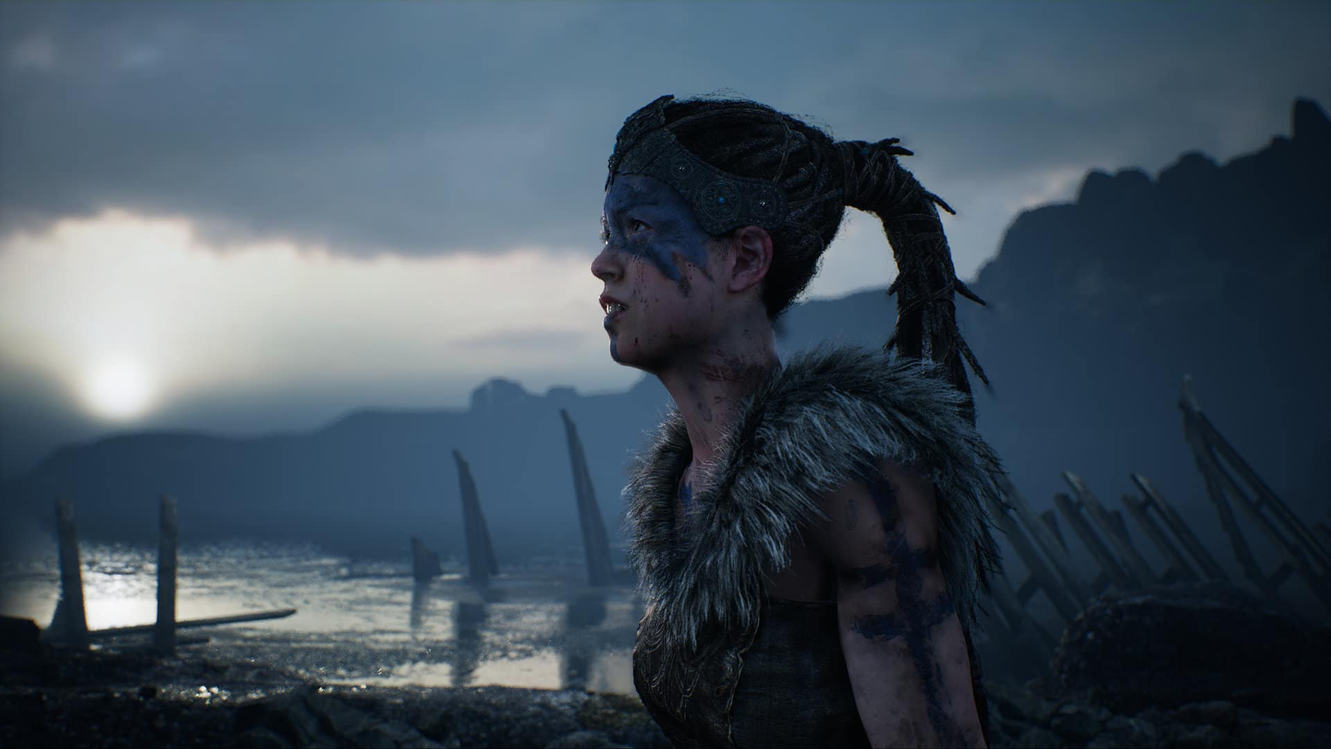 Hellblade Senua at coast