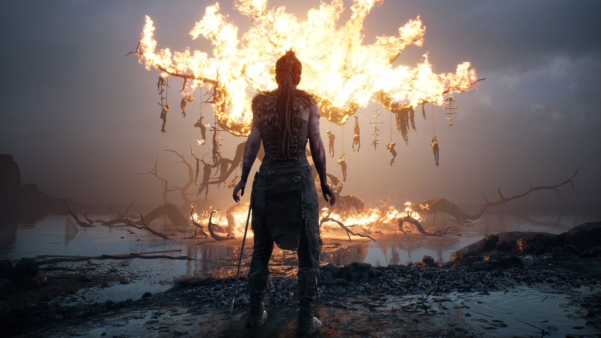 Hellblade Tree Fire Imagery
