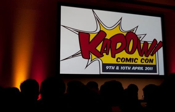 Image: Photo from a panel at Kapow Comic Con