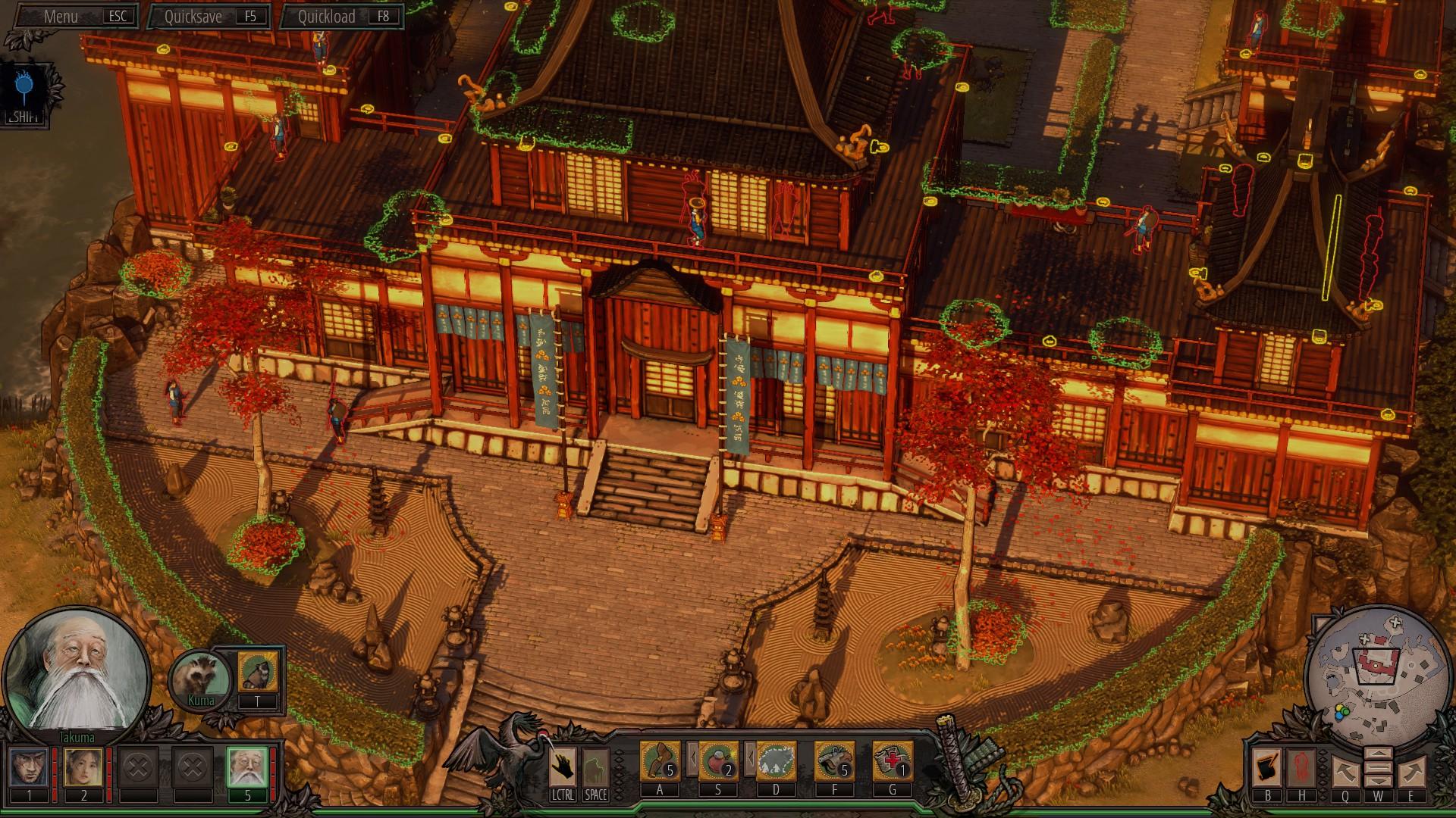 Shadow Tactics Castle Highlights