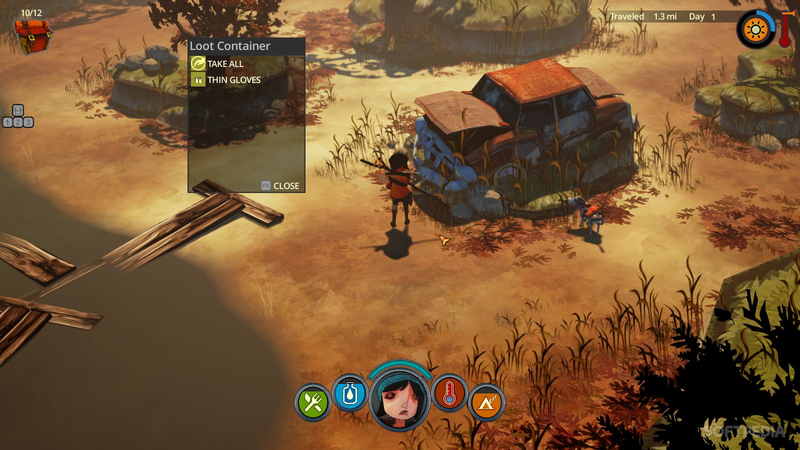 The Flame in the Flood Wilderness Looting