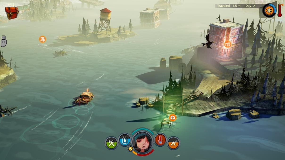The Flame in the Flood Raft on Calm River