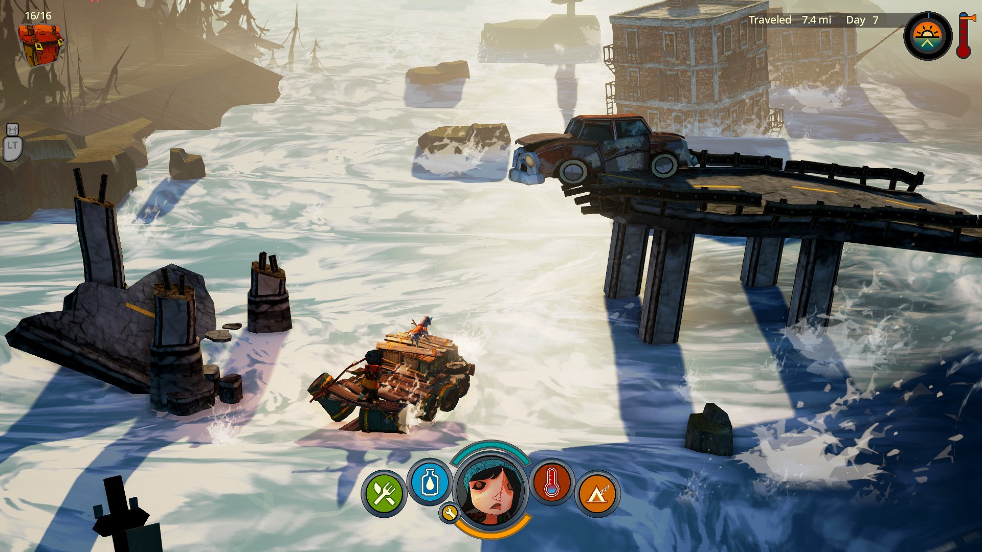 The Flame in the Flood Rafting Rapids