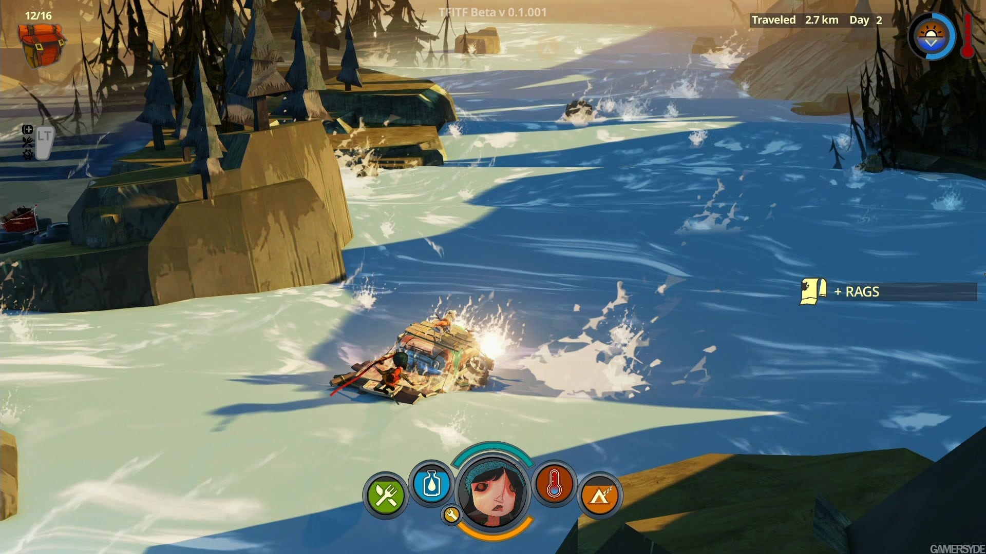 The Flame in the Flood river rapids