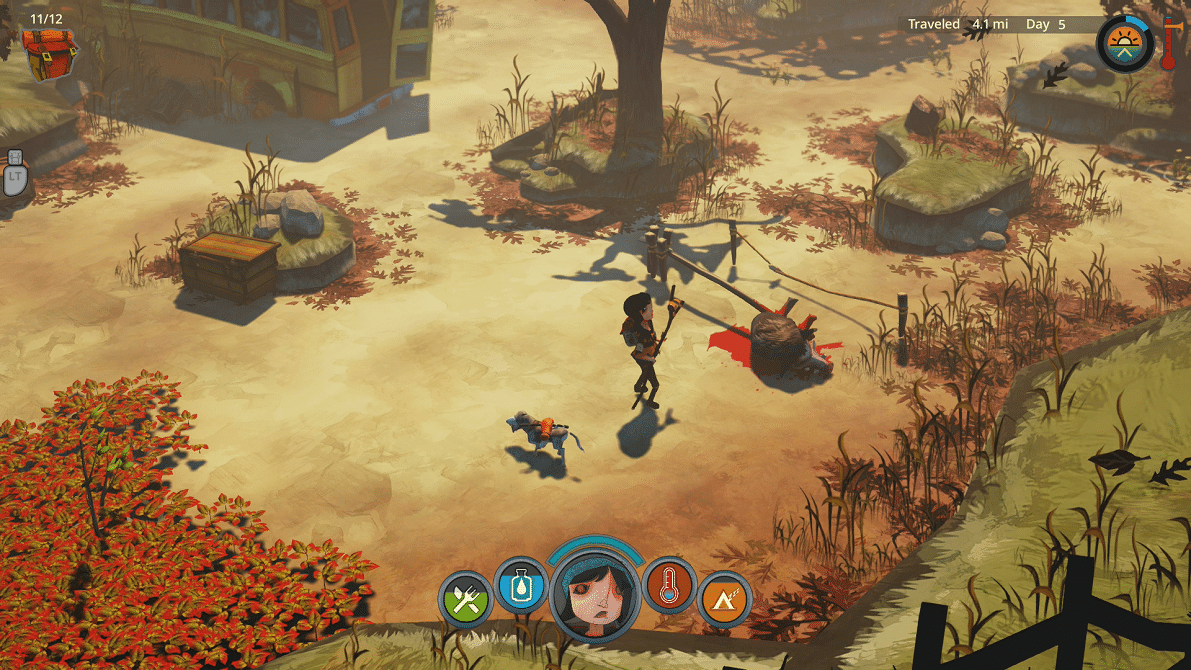The Flame in the Flood trapping boar