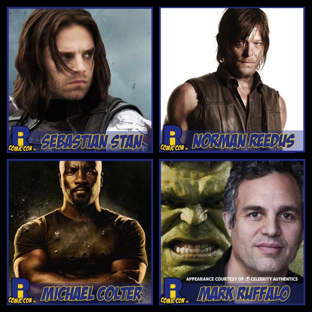 Rhode Island Comic Con, Sebastian Stan, Norman Reedus, Mike Colter, Mark Ruffalo