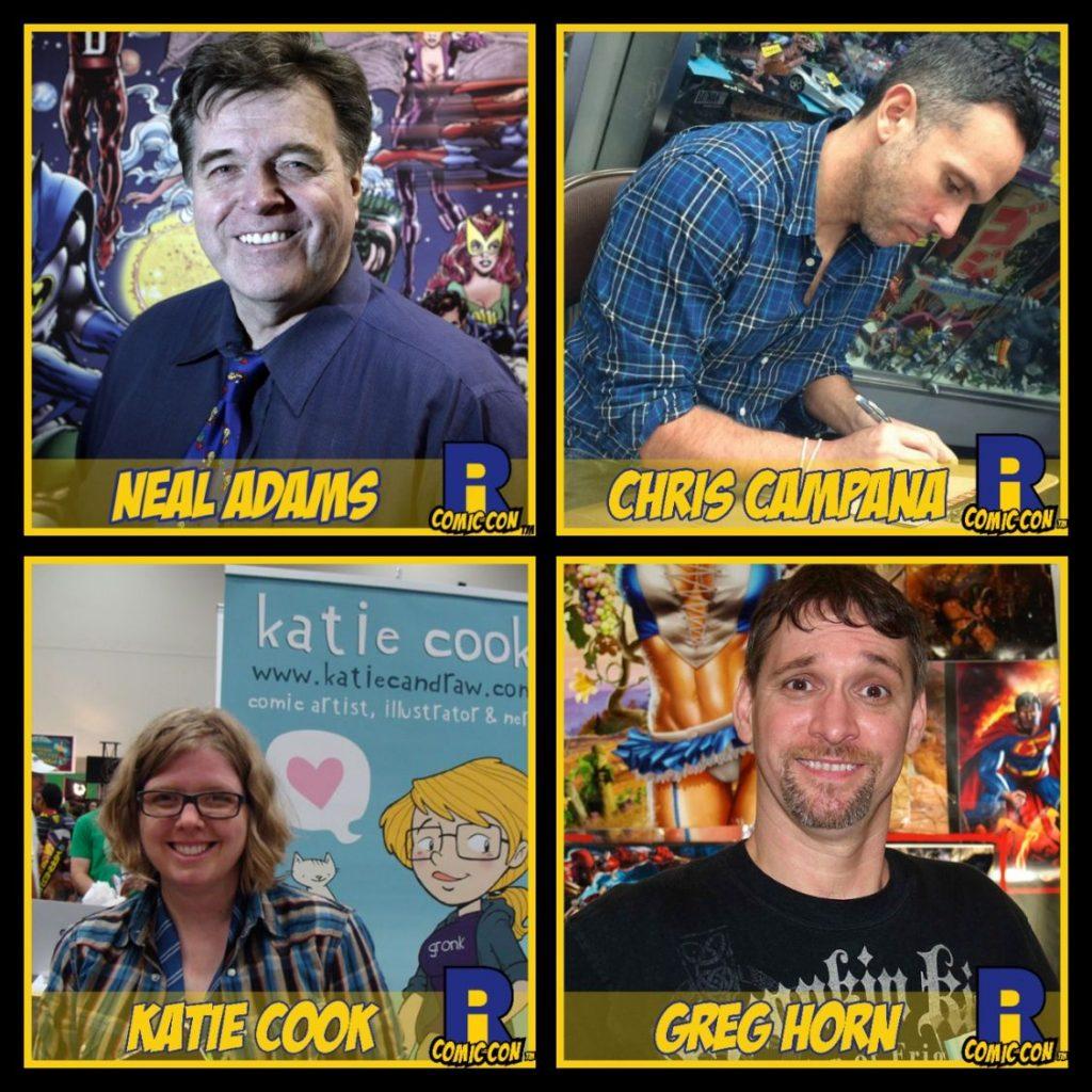 Rhode Island Comic Con, Neal Adams, Chris Campana, Katie Cook, Greg Horn